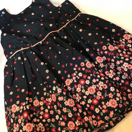 12-18 Months Navy Flower Dress